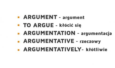 word formation - argument